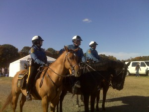 Mounted Patrol Police at the Hunt